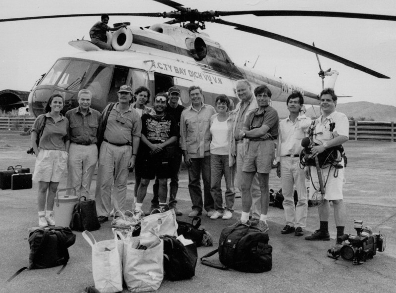 Picture - CBS Reports team on the way to Vietnam.