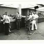 """On the set of CBS's """"None of Your Damned Business"""""""