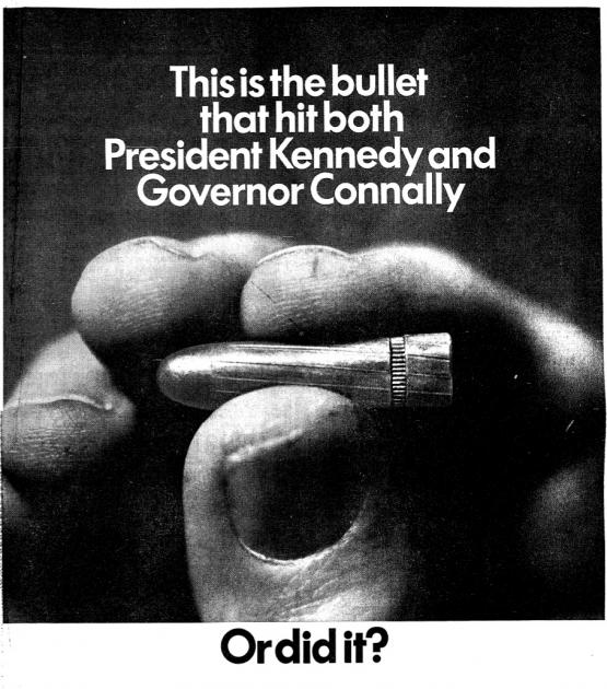 "Advertisement for ""CBS Inquiry: The Warren Report,"" in the Washington Post, June 25, 1967."