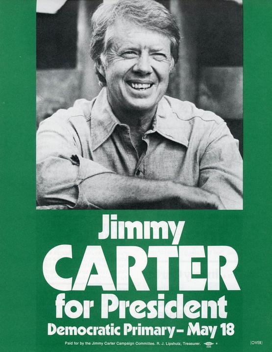 1976 Teachers for Carter Mondale Campaign Poster