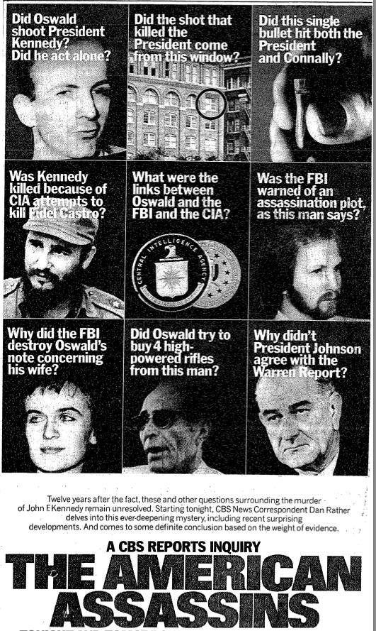 "Advertisement - ""The American Assassins"""