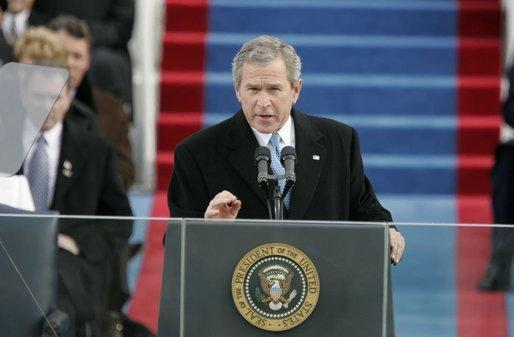 President George W. Bush's second inaugural address, January 20, 2005.